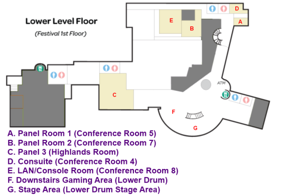 Madicon Downstairs Map