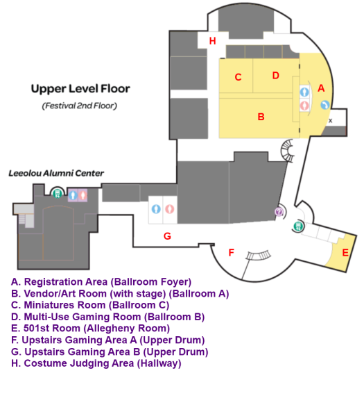 Madicon Upstairs Map