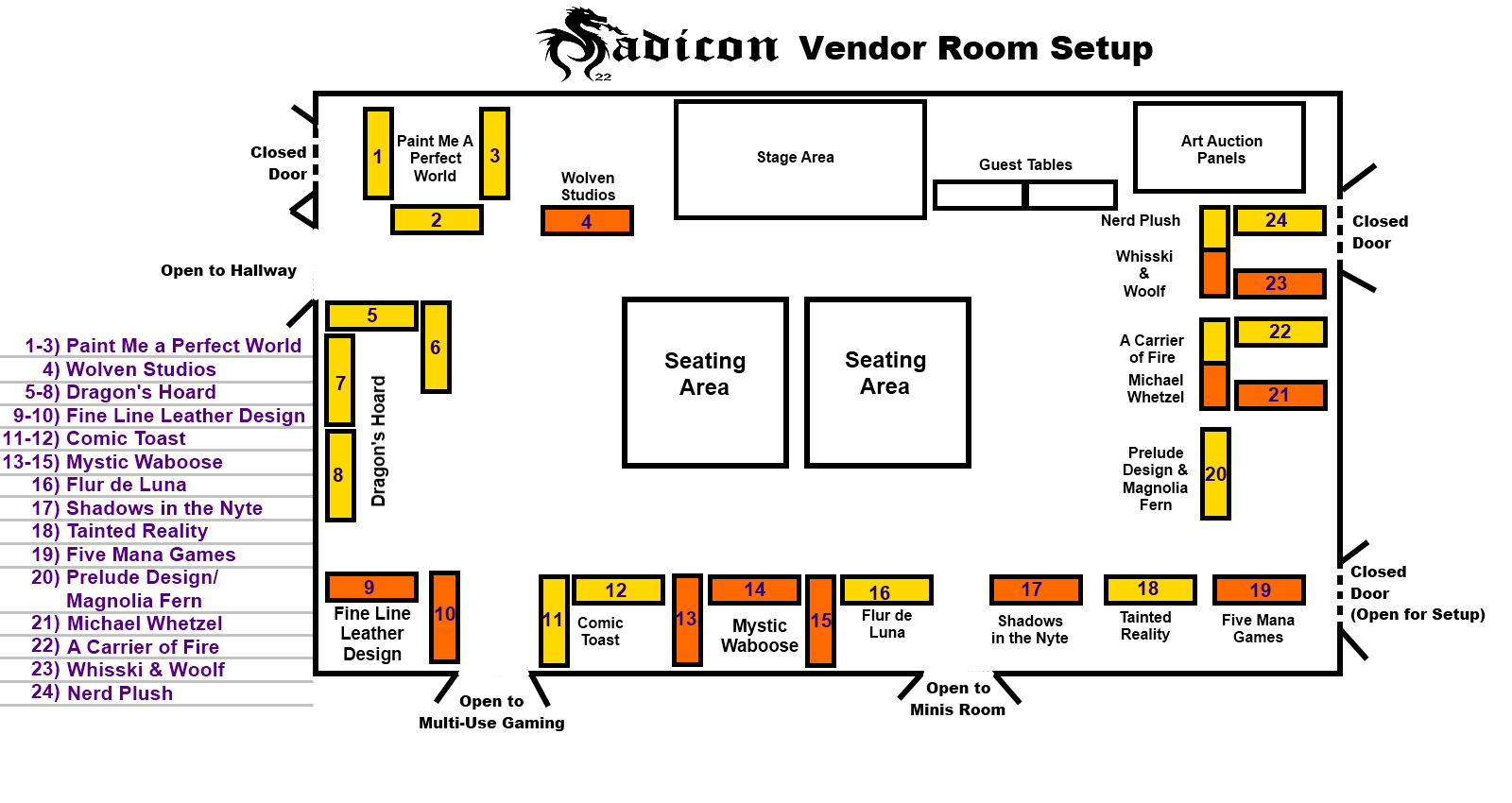 Vendor map available madicon 27 for Apartment design map