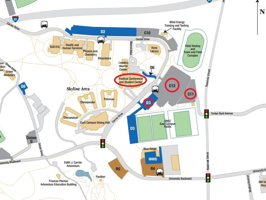 James Madison Campus Map.Summary James Madison University Campus Map